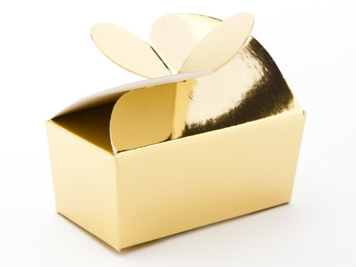 2 Choc Bright Gold Butterfly Ballotin   Meridian Speciality Packaging