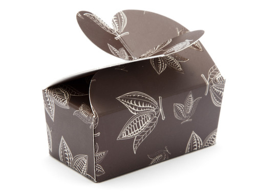 2 Choc Brown Cocoa Pod B-fly Ballotin | Meridian Speciality Packaging