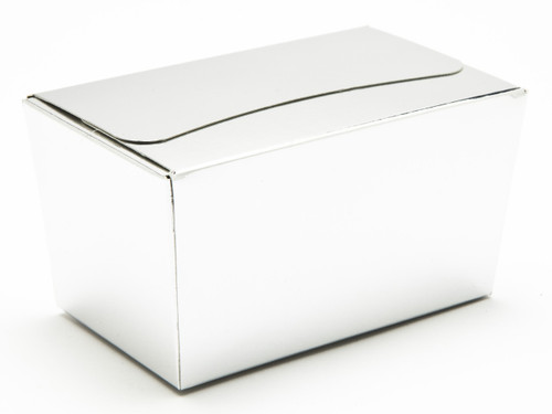 250g Ballotin - Bright Silver | Meridian Speciality Packaging