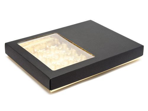 24 Choc Deluxe Buffer Base and Lid (with window) | Meridian Speciality Packaging