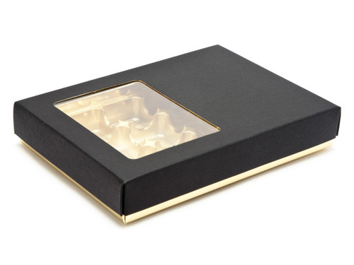12 Choc Deluxe Buffer Base and Lid (with window) | Meridian Speciality Packaging