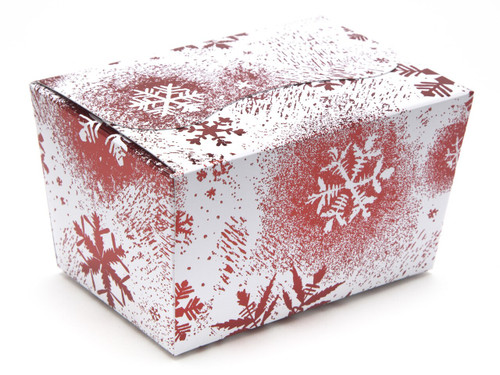 125g Ballotin - Red and White Snowflake | Meridian Speciality Packaging