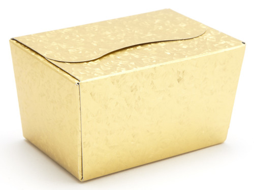125g Ballotin - Embossed Gold | Meridian Speciality Packaging