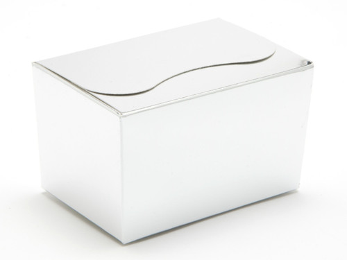 125g Ballotin - Bright Silver   Meridian Speciality Packaging