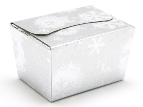 100g Ballotin - Silver Snowflake | Meridian Speciality Packaging