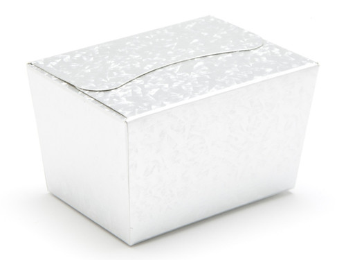 100g Ballotin - Embossed Silver | Meridian Speciality Packaging