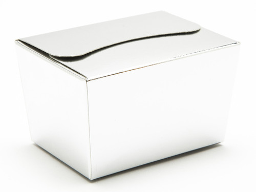 100g Ballotin - Bright Silver | Meridian Speciality Packaging