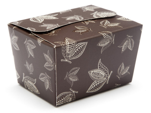 100g Ballotin - Brown Cocoa Pod   Meridian Speciality Packaging