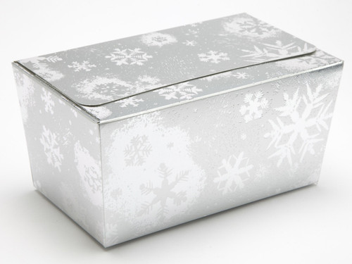 1000g Ballotin - Silver Snowflake | Meridian Speciality Packaging