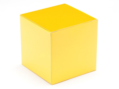 80mm Cube Carton - Sunshine Yellow | Meridian Speciality Packaging