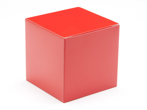 80mm Cube Carton - Red | Meridian Speciality Packaging