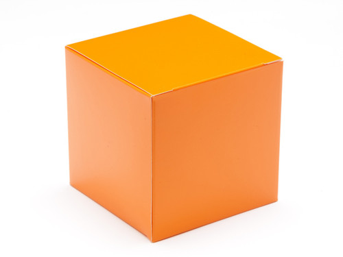 80mm Cube Carton - Orange | Meridian Speciality Packaging