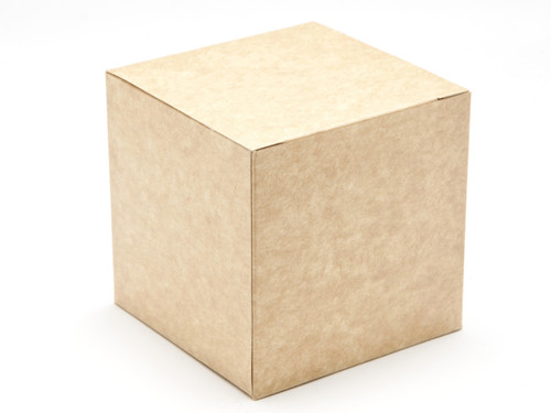 80mm Cube Carton - Natural Kraft   Meridian Speciality Packaging