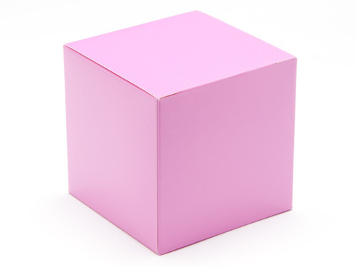 80mm Cube Carton - Electric Pink | Meridian Speciality Packaging