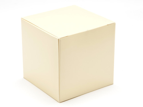 80mm Cube Carton - Cream | Meridian Speciality Packaging