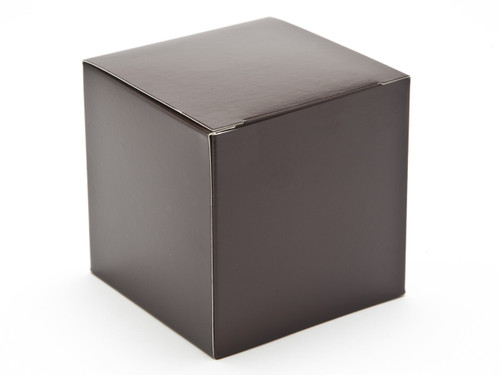80mm Cube Carton - Chocolate Brown   Meridian Speciality Packaging
