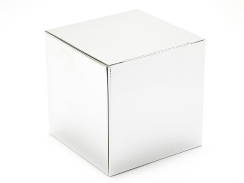 80mm Cube Carton - Bright Silver | Meridian Speciality Packaging