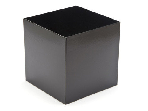 80mm Cube Carton - Black | Meridian Speciality Packaging
