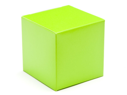 60mm Cube Carton - Vibrant Green | Meridian Speciality Packaging