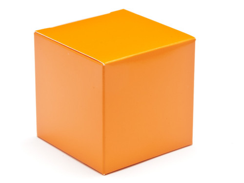 60mm Cube Carton - Orange | Meridian Speciality Packaging