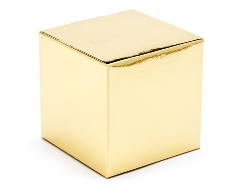 60mm Cube Carton - Bright Gold | Meridian Speciality Packaging