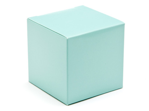 60mm Cube Carton - Aqua | Meridian Speciality Packaging
