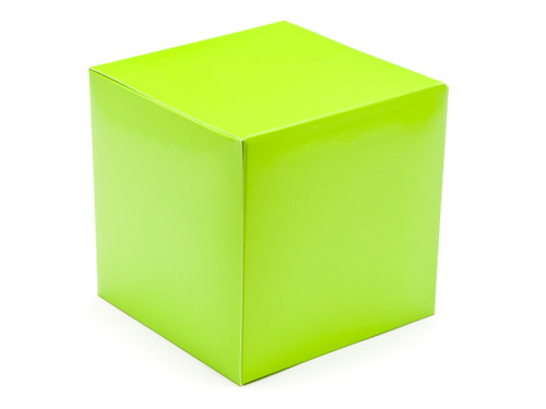 120mm Cube Carton - Vibrant Green | Meridian Speciality Packaging