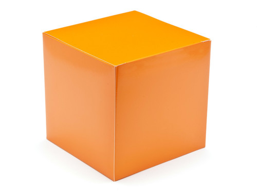 120mm Cube Carton - Orange | Meridian Speciality Packaging