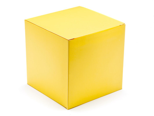 120mm Cube Carton - Buttermilk Yellow   Meridian Speciality Packaging