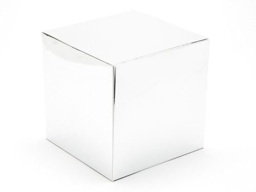 120mm Cube Carton - Bright Silver | Meridian Speciality Packaging