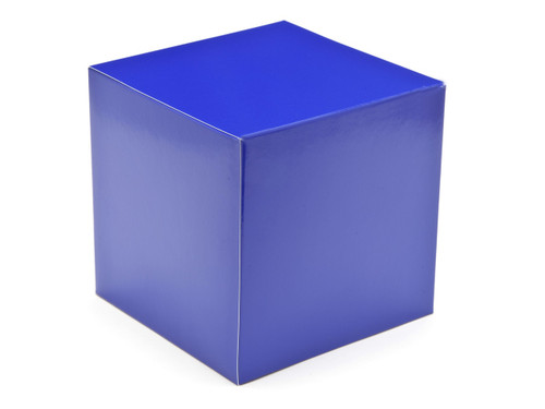 120mm Cube Carton - Blue | Meridian Speciality Packaging