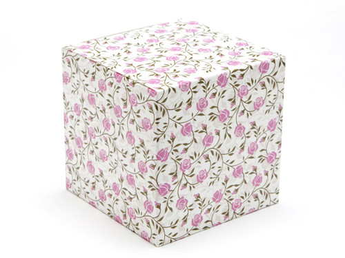 100mm Cube Carton - Rose | Meridian Speciality Packaging