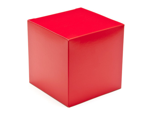 100mm Cube Carton - Red | Meridian Speciality Packaging