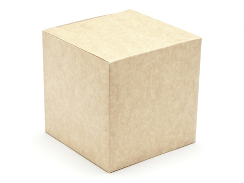 100mm Cube Carton - Natural Kraft | Meridian Speciality Packaging