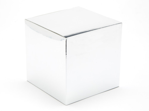 100mm Cube Carton - Bright Silver | Meridian Speciality Packaging