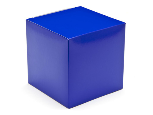 100mm Cube Carton - Blue | Meridian Speciality Packaging