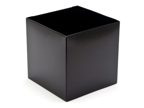 100mm Cube Carton - Black | Meridian Speciality Packaging