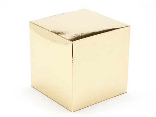 100mm Cube Carton  - Bright Gold | Meridian Speciality Packaging