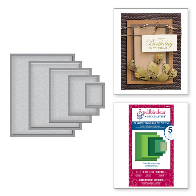 Nestabilities Classic Rectangles LG Etched Dies