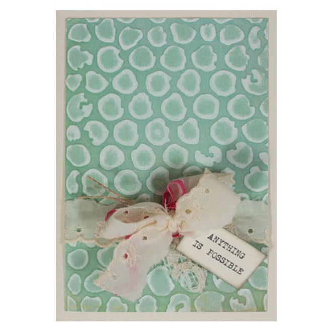 Spellbinders Embossing Folder - Bubble Wrap by Donna Salazar