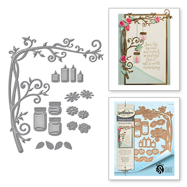 Shapeabilities Stacey Caron Botanical Bliss Elegant Branch Etched Dies