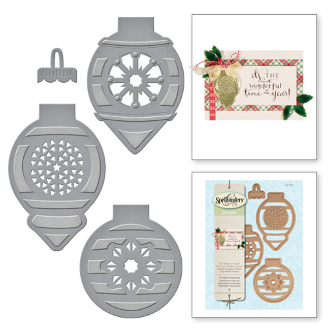 Shapeabilities Holiday Vintage Ornaments Etched Dies