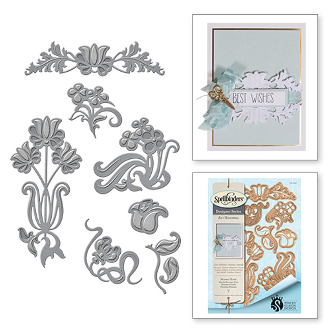 Shapeabilities Art Nouveau Florals Stacey Caron Etched Dies