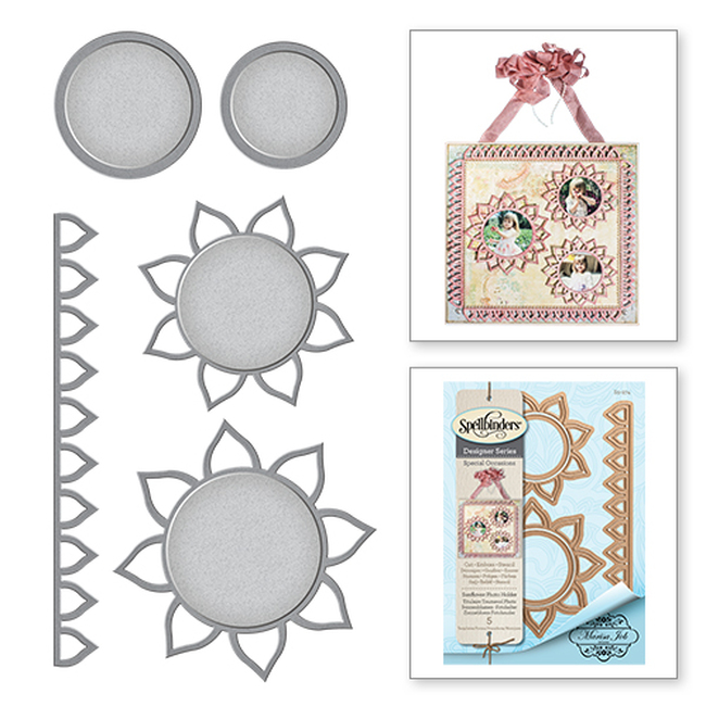 Shapeabilities Sunflower Photo Holder Special Occasions by Marisa Job Etched Dies