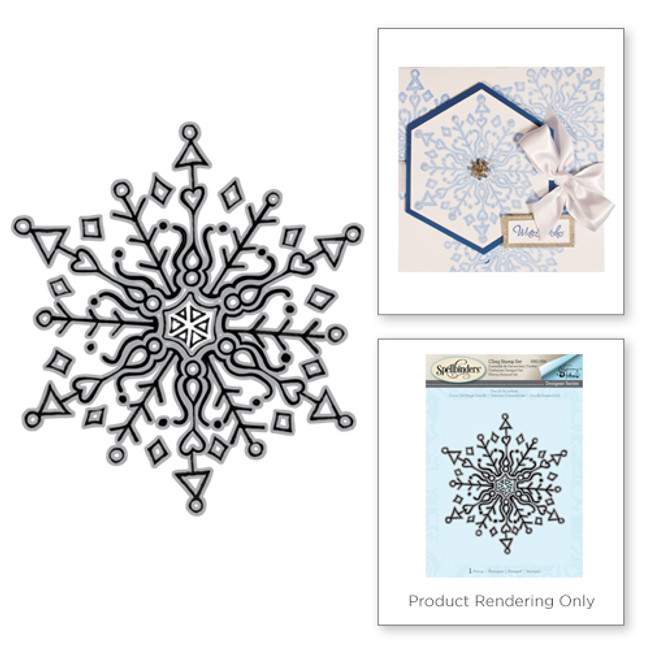 Doodle Snowflake Holiday Stamps by Tammy Tutterow