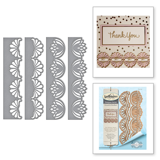 Graceful Fans Card Creator Amazing Paper Grace by Becca Feeken Etched Dies