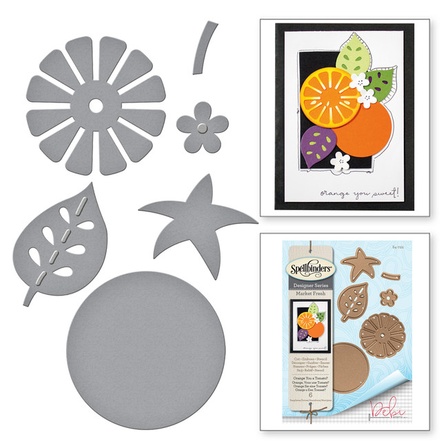 Shapeabilities Market Fresh by Debi Adams Orange You a Tomato Etched Dies