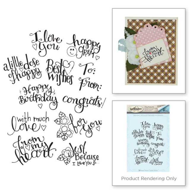Spellbinders Tiny Sentiments stamp set