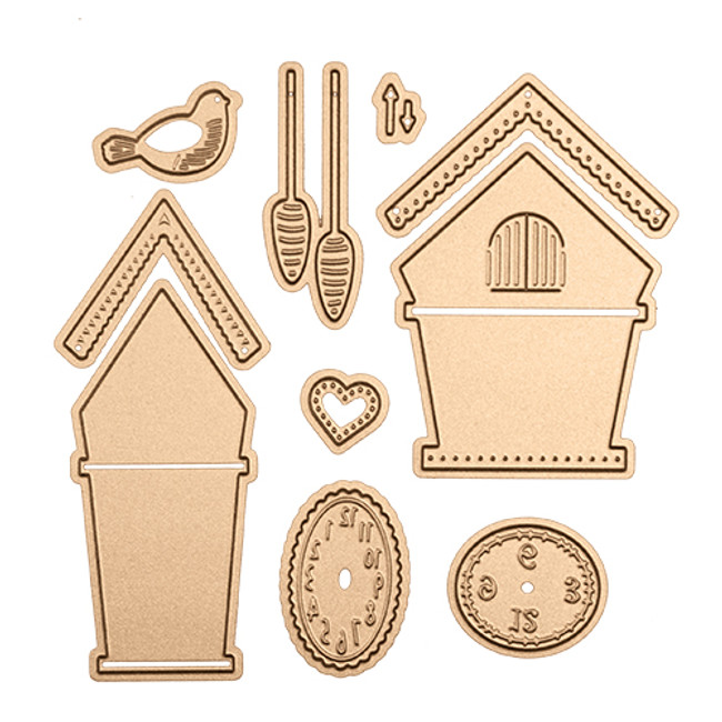 Cuckoo Clock Die Set - Small Die of the Month Club