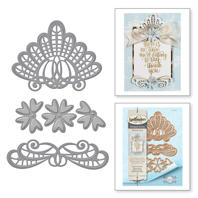 Shapeabilities Isadora Trinkets Etched Dies Venise Lace by Becca Feeken